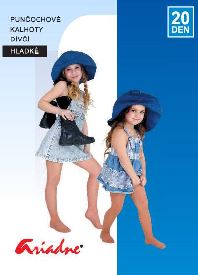 Rajstopy dziewczęce gładkie (nylon) - kolor ciała