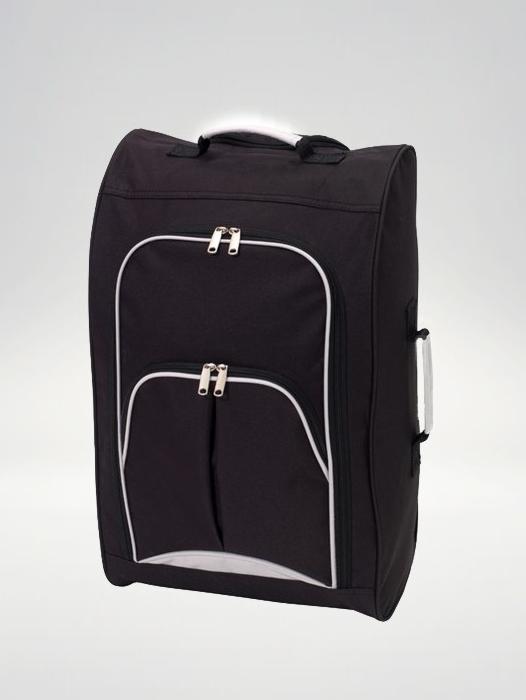 Check-in, walizka podróżna Trolley - czerwona