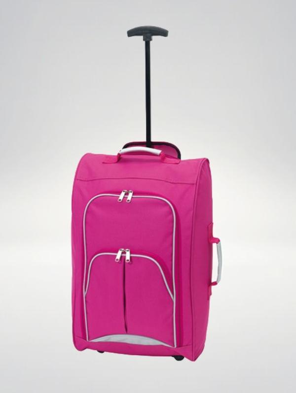 Check-in, walizka podróżna Trolley - różowa