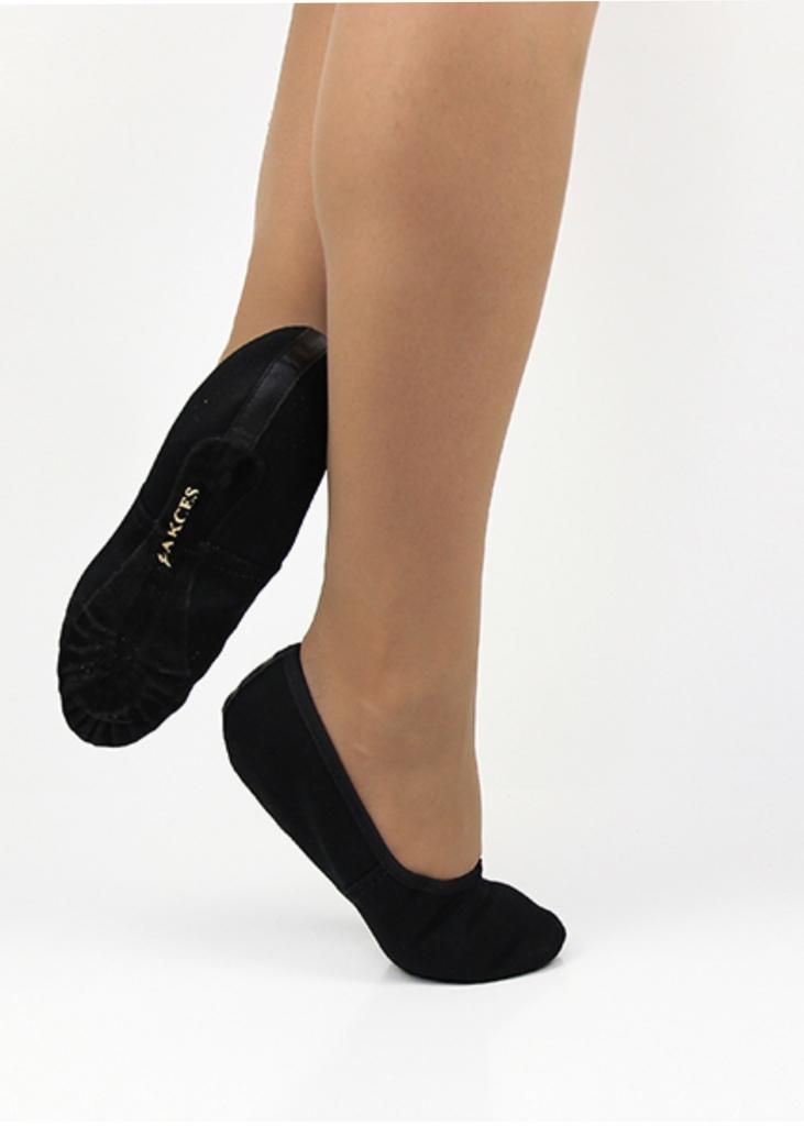 Taneczne Baletki Materiałowe - Czarne