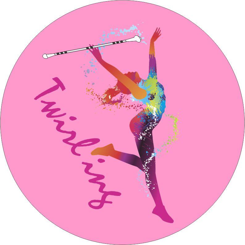 Odznaka - button - twilirng różowy