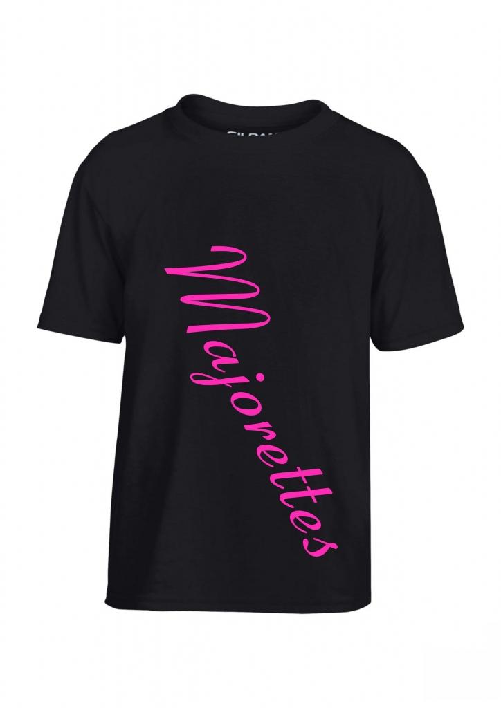 Koszulka dziecięca czarna Majorette