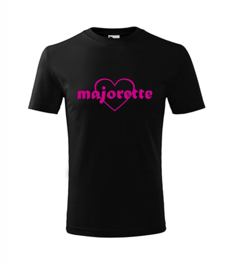 Dziecięca czarna koszulka Majorette