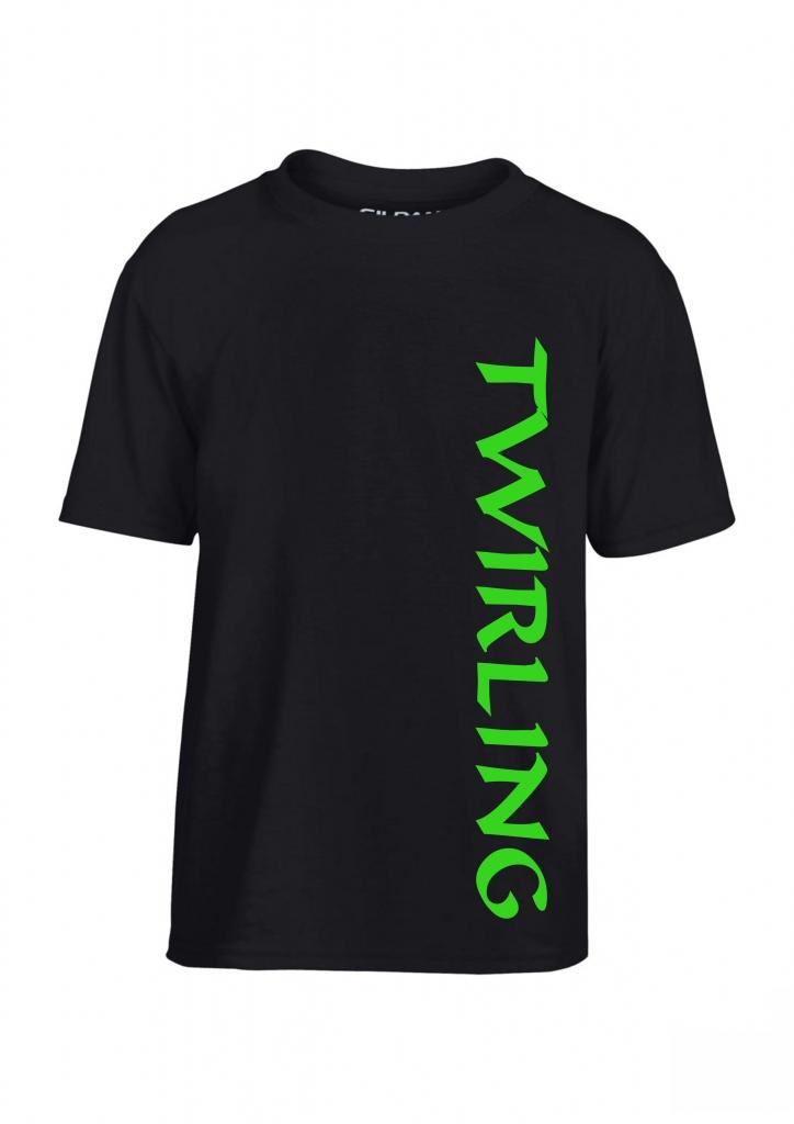 Koszulka dziecięca czarna Twirling