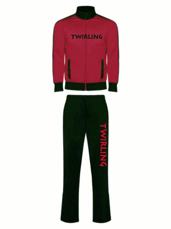 Dres sportowy Twirling - czerwony