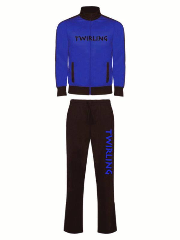 Dres sportowy Twirling - niebieski