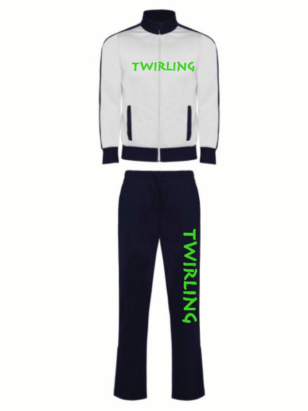 Dres sportowy Twirling - biały