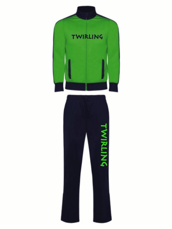 Dres sportowy Twirling - zielony