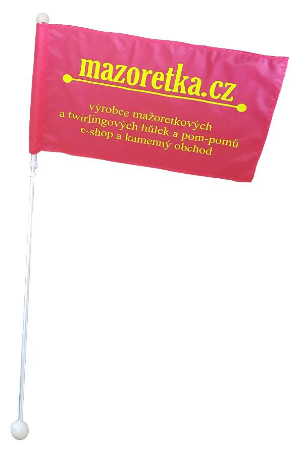 Mała flaga Mażoretkowa - biała