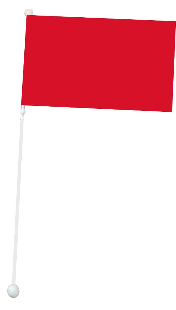 Duża flaga Mażoretkowa - czerwona
