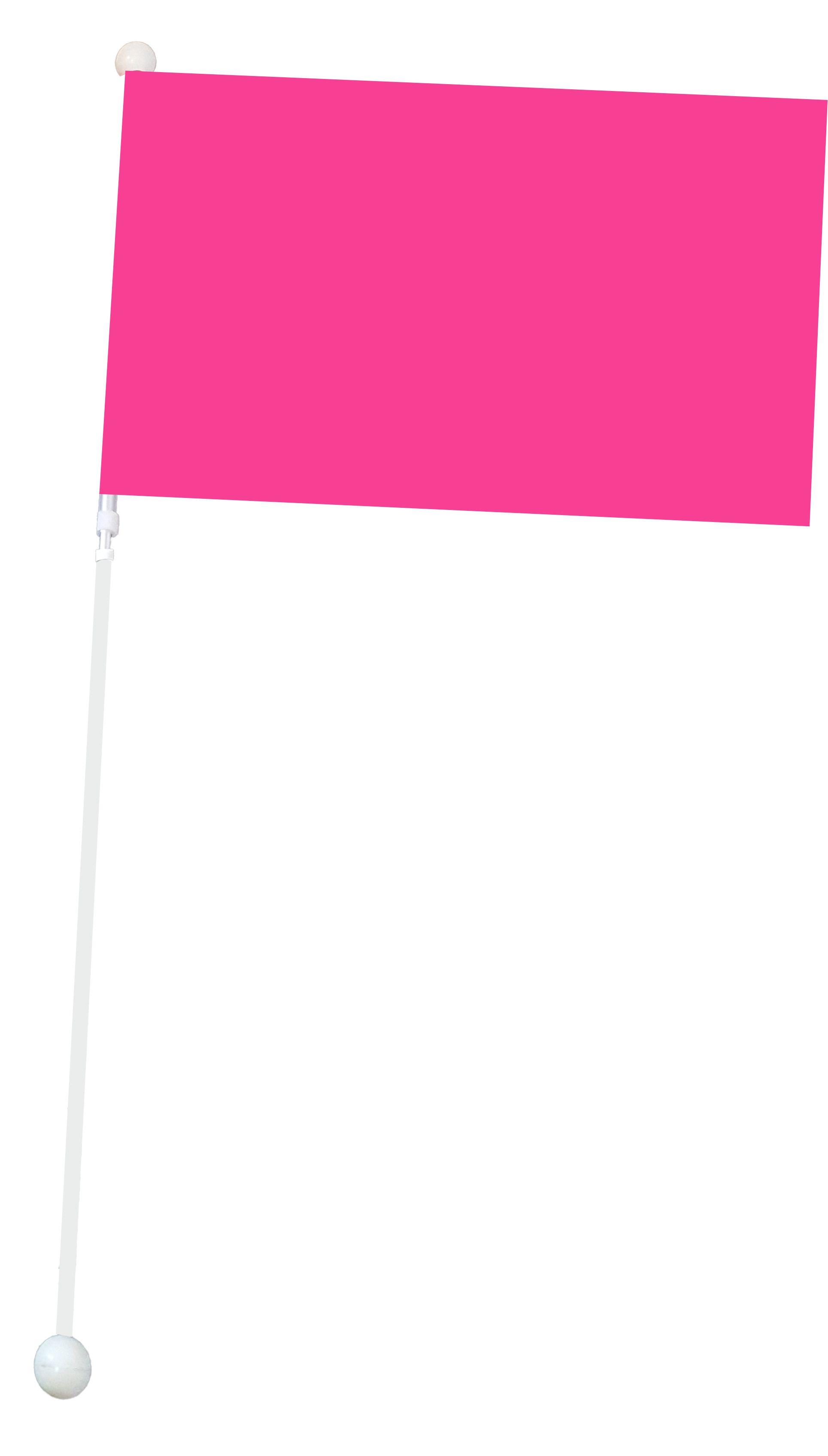 Duża flaga Mażoretkowa - różowa