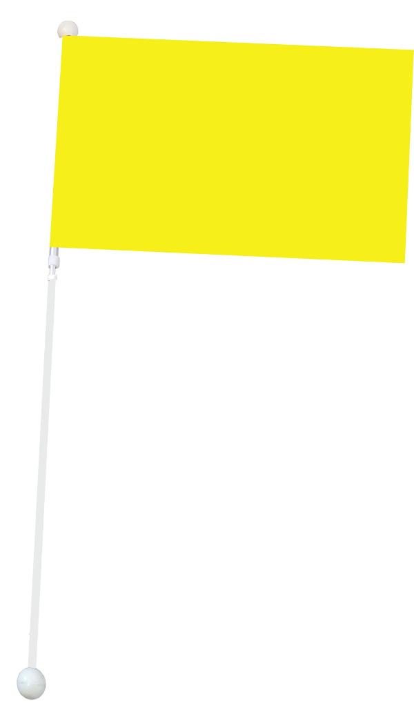 Duża flaga Mażoretkowa - żółta