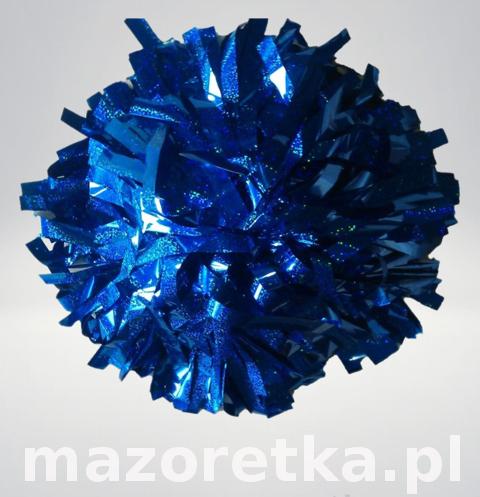Pompon holograficzny, niebieski