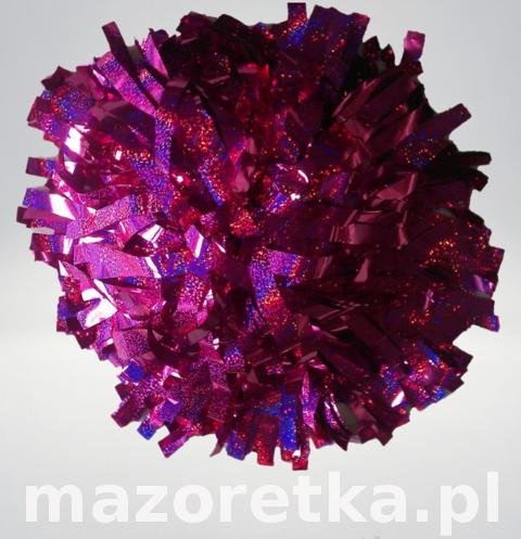 Pompon holograficzny, różowy