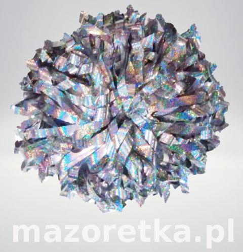 Pompon holograficzny, srebny