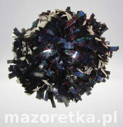 Pompon holograficzny, czarny