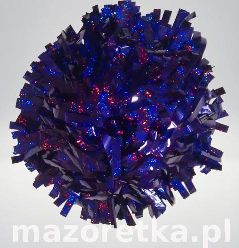 Pompon holograficzny, fioletowy