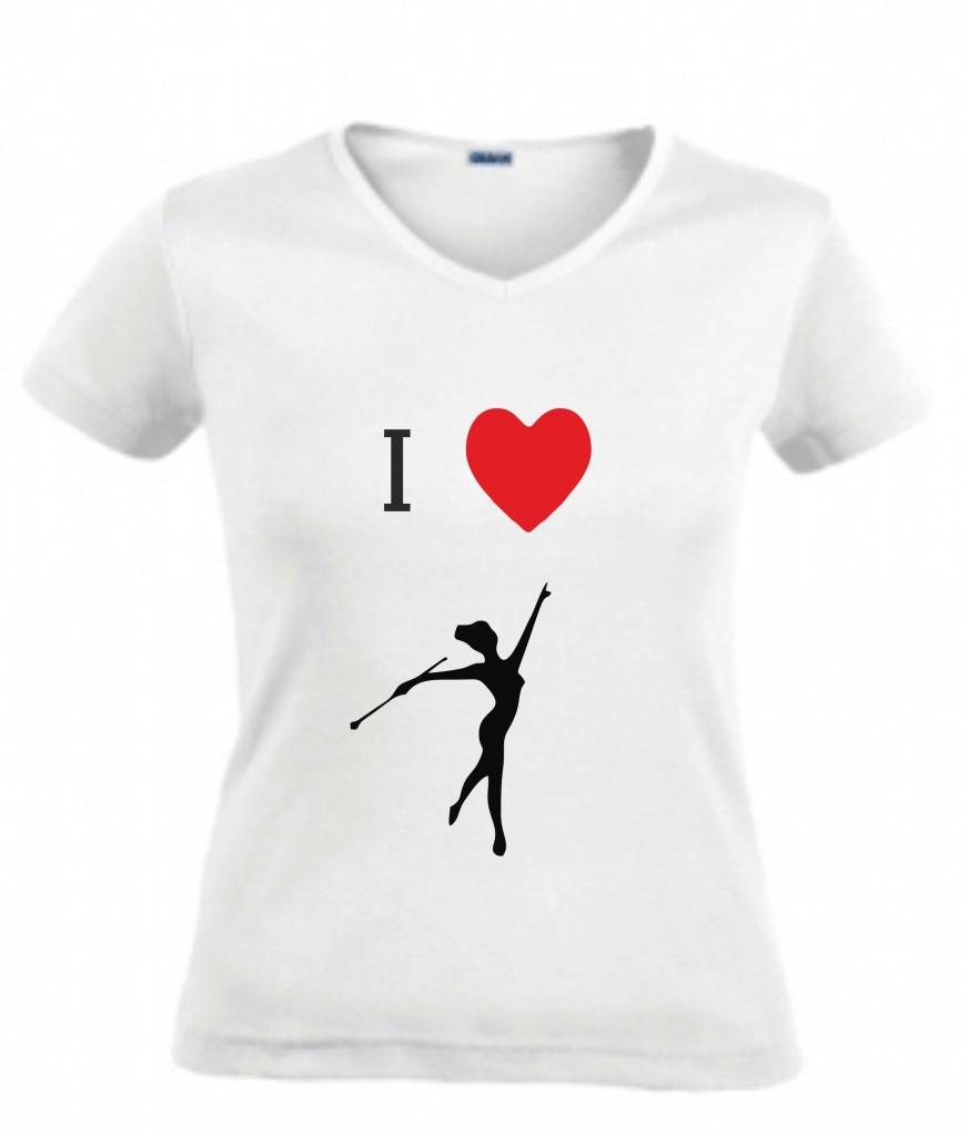 Koszulka z tancerką, I LOVE ...