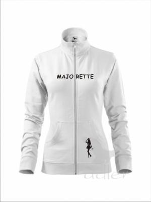 Rozpinana bluza damska - MAJORETTE, biała