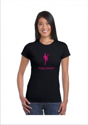 Damska koszulka nadruk mażoretka i imię