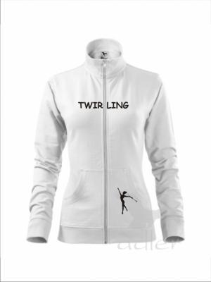 Rozpinana bluza damska - TWIRLING, biała