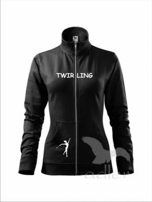Rozpinana bluza damska - TWIRLING, czarna