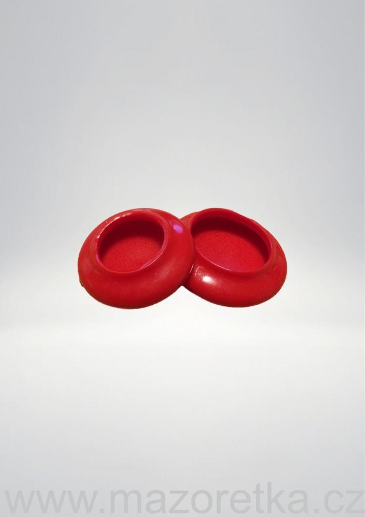 Ochronne końcówki na pałeczkę - czerwone