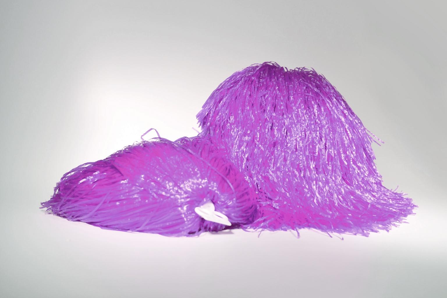 Pompon jednokolorowy - fioletowy
