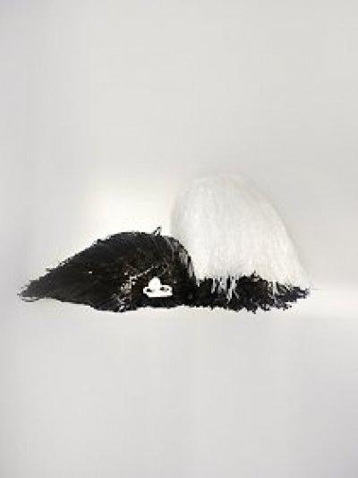 Pompon jednokolorowy - biały