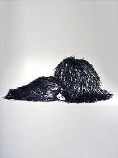 Pompon jednokolorowy - czarny