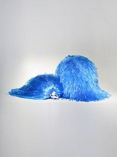 Pompon jednokolorowy - niebieski