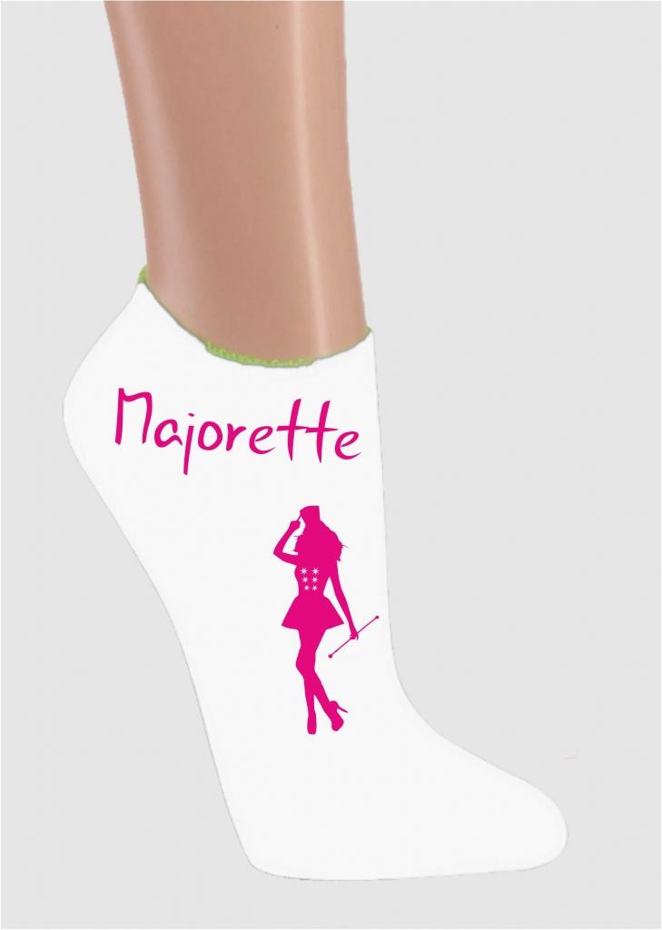 Skarpetki stopki - białe majorette