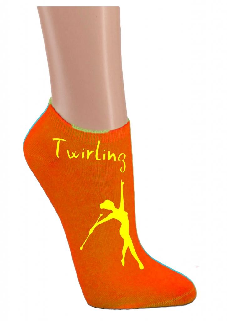 Skarpetki stopki - pomarańczowe twirling