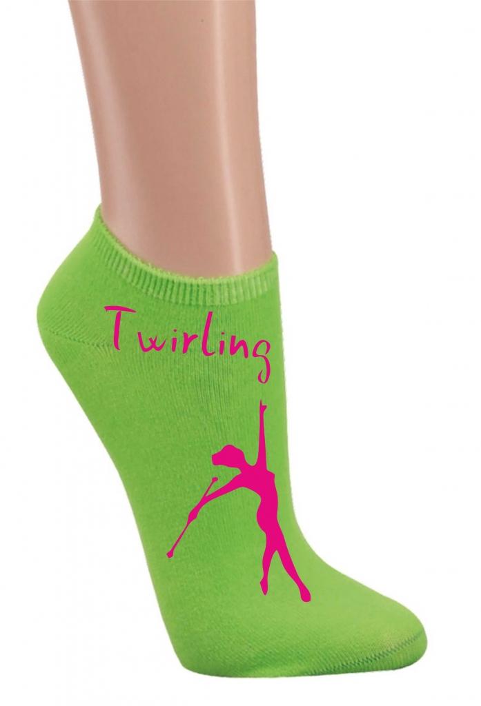Skarpetki stopki - zielone twirling