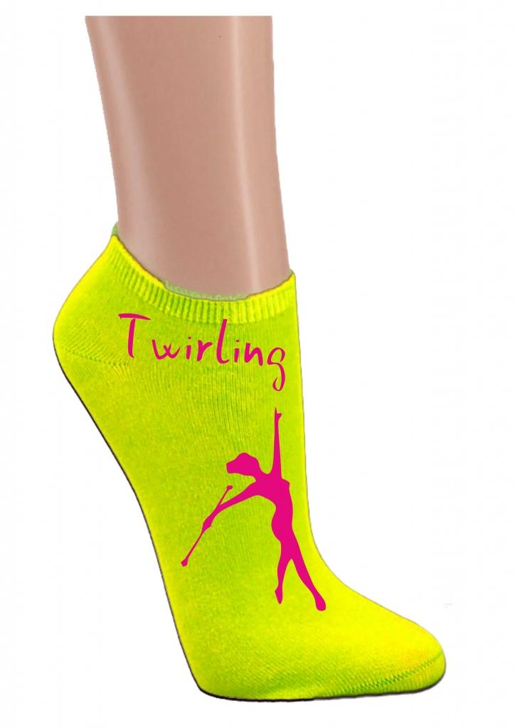 Skarpetki stopki - żółte twirling