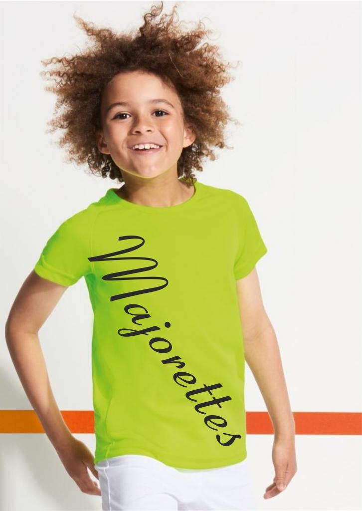 Dziecięca koszulka sportowa - żółta