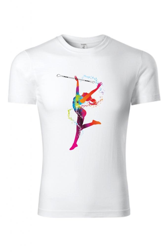 Koszulka dziecięca z tancerką, biała