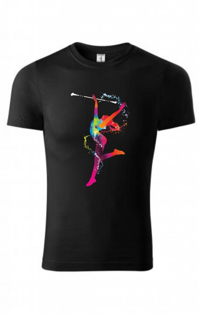 Koszulka dziecięca z tancerką, czarna