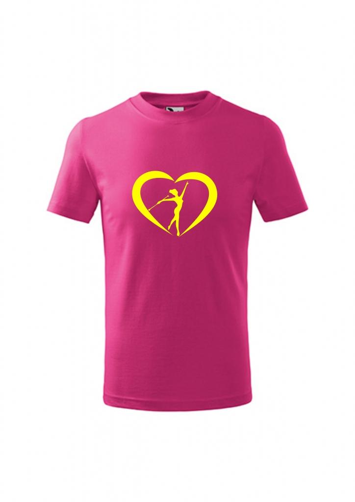Koszulka z sercemi, różowa