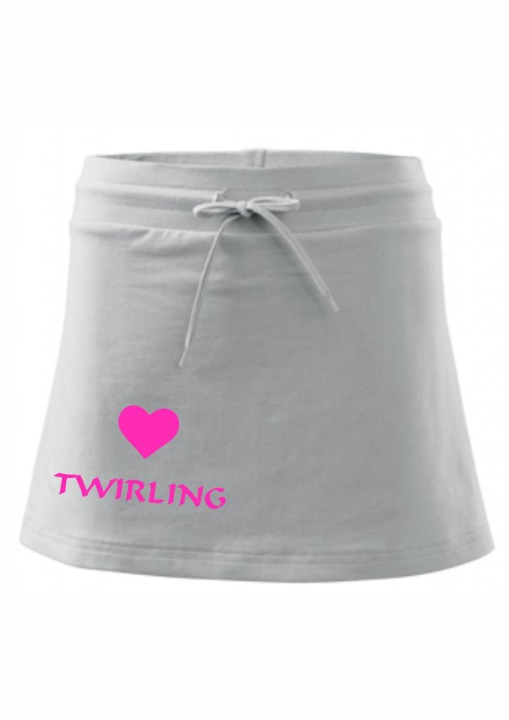Spódniczka z szortami - biała - twirling