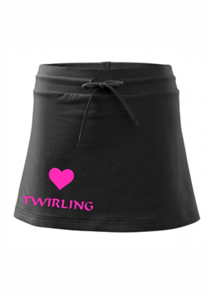 Spódniczka z szortami - czarna - twirling