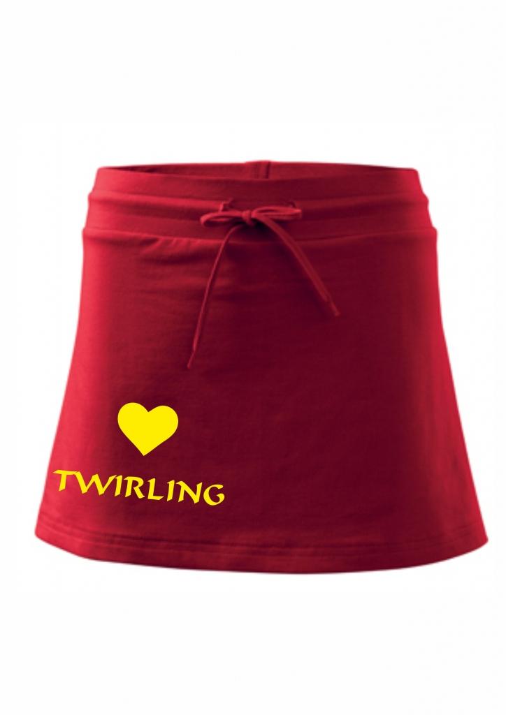 Spódniczka z szortami - czerwona - twirling