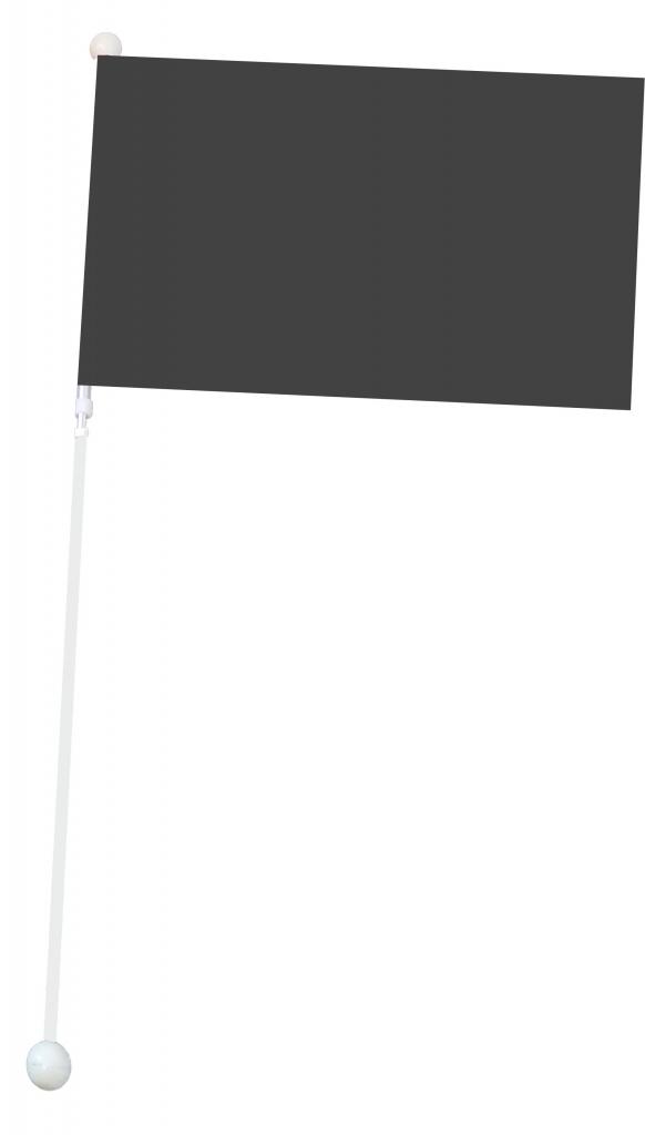 Mała flaga Mażoretkowa - czarna