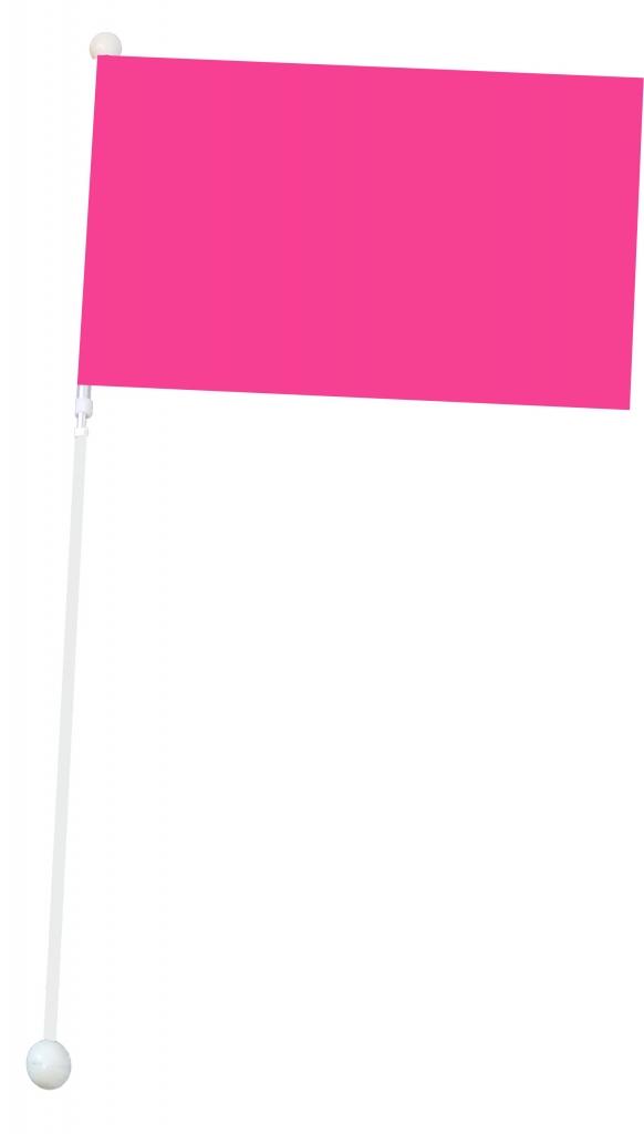 Mała flaga Mażoretkowa - różowa