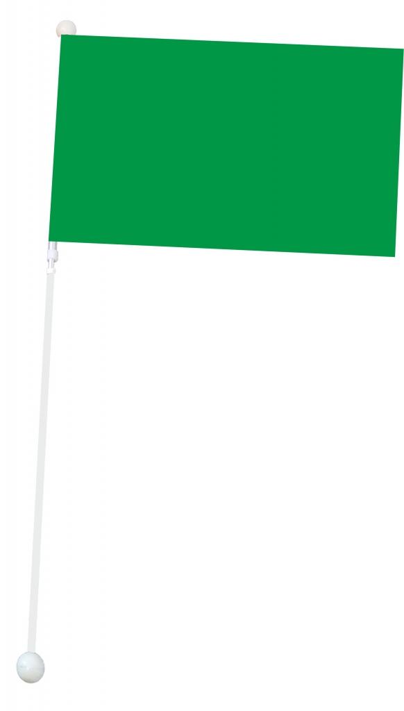 Mała flaga Mażoretkowa - zielona